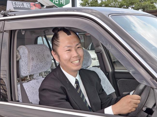 ちょんまげタクシー運転手