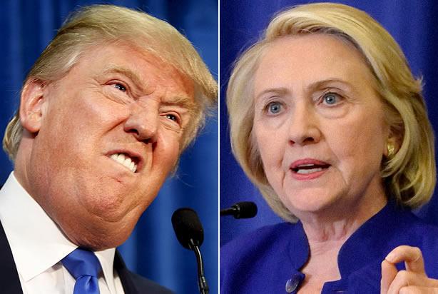 ドナルド・トランプとヒラリー・クリントン