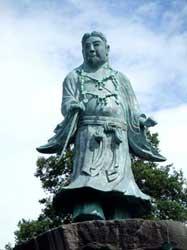 兼六園の日本武尊の銅像