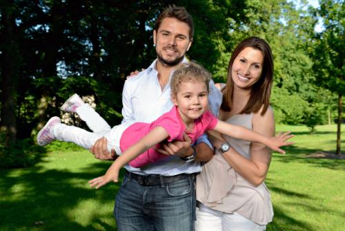 スタン・ワウリンカと前妻のイルハムと長女のアレクシアちゃん