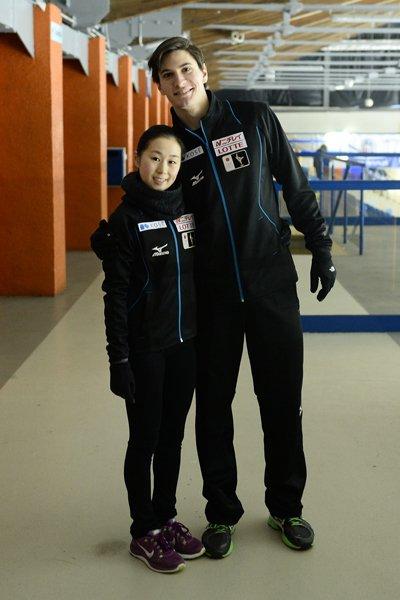 須藤澄玲選手とフランシス・ブードロー・オデ選手