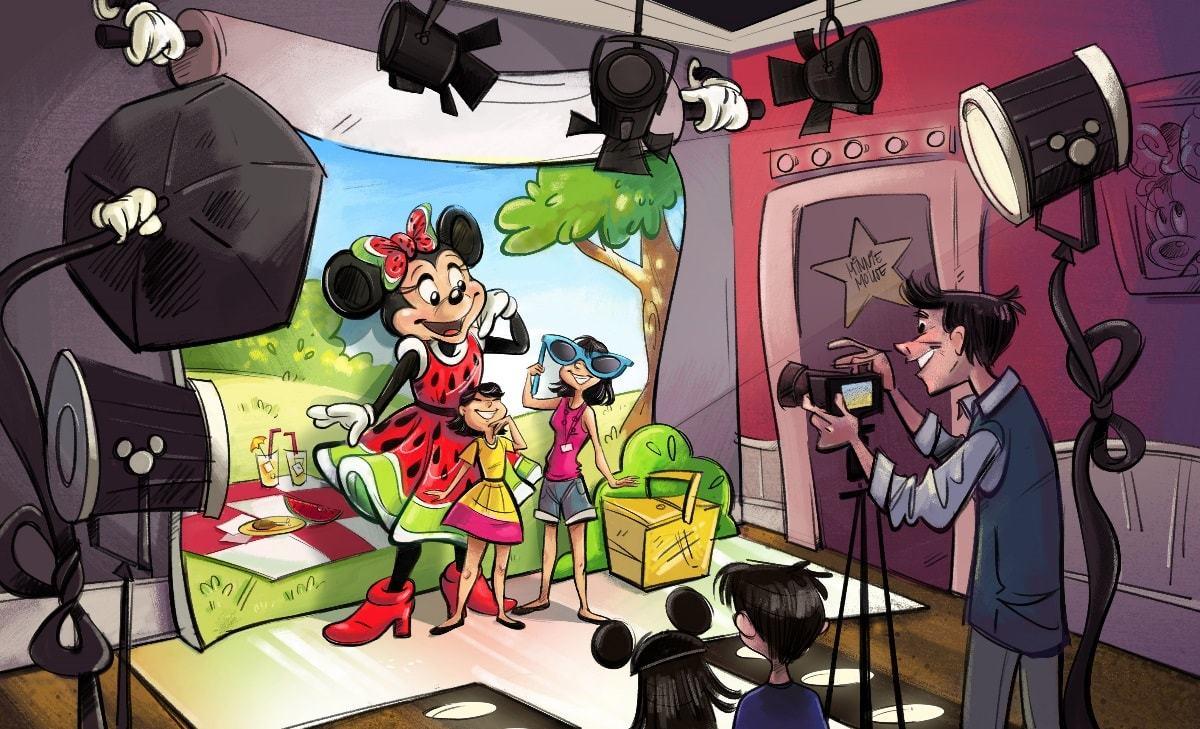 ミニーマウスのキャラクターグリーティング施設(仮)